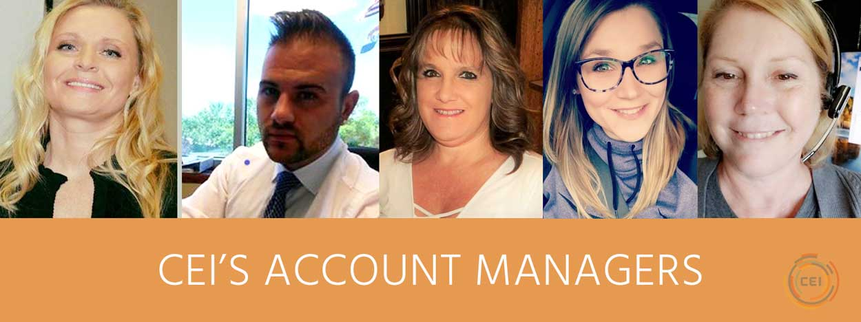 MEET OUR GROUP OF SERIOUS SERVICE MINDED ACCOUNT MANAGERS!
